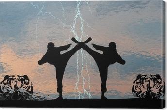 Tableau sur toile Karaté de Thunder