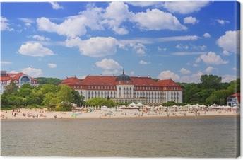 Tableau sur toile L'été sur la plage de la mer Baltique à Sopot, en Pologne