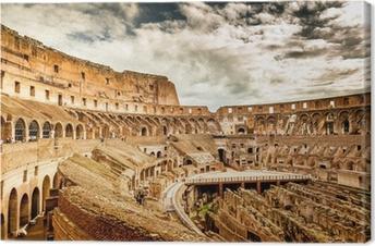 Tableau sur toile L'intérieur du Colisée à Rome, Italie