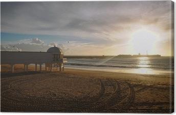 Tableau sur toile La Caleta au coucher du soleil