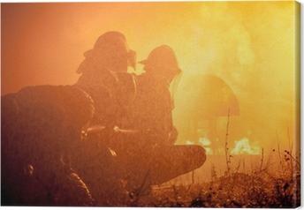 Tableau sur toile La formation des pompiers