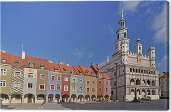 Tableau sur toile La place du marché, Poznan, Pologne