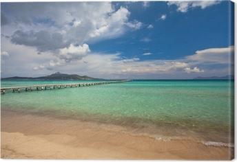 Tableau sur toile La plage d'Alcudia, Majorque