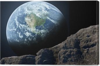 Tableau sur toile La Terre vue de la Lune.