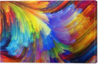 Tableau sur toile La texture colorée