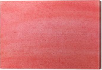 Tableau sur toile La texture d'une feuille de papier peinte avec de la peinture rouge