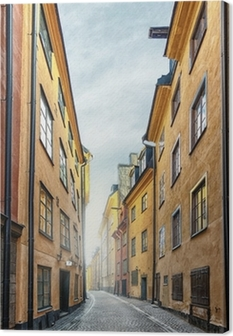 Tableau sur toile La vieille ville de Stockholm