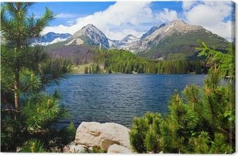 Tableau sur toile Lac en Slovaquie