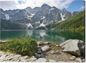 Tableau sur toile Lac Morskie Oko dans les montagnes Tatras, Pologne