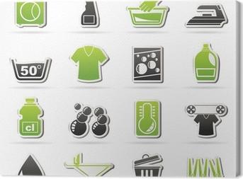 Tableau sur toile Lave-linge et machine à icônes - vecteur jeu d'icônes