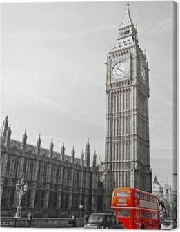Tableau sur toile Le Big Ben, la Chambre du Parlement et le pont de Westminster