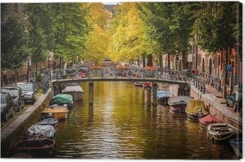 Tableau sur toile Le canal d'Amsterdam