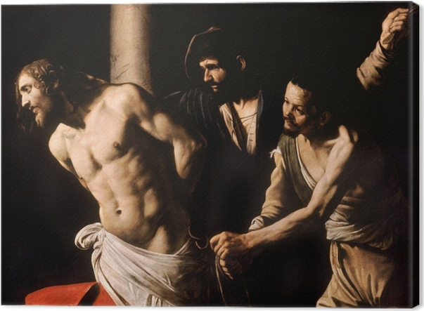 Tableau sur toile Le Caravage - La Flagellation du Christ - Reproductions