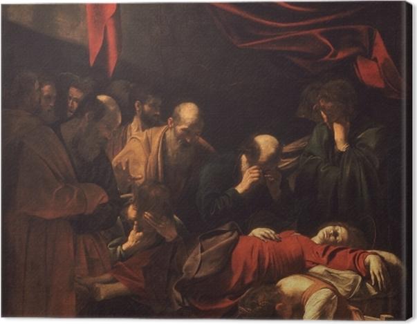 Tableau sur toile Le Caravage - La Mort de la Vierge - Reproductions