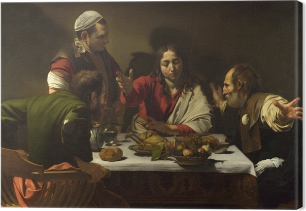 Tableau sur toile Le Caravage - Le Souper à Emmaüs - Reproductions