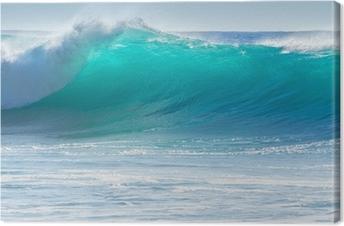 Tableau sur Toile Le déferlement des vagues sur le rivage de Madère