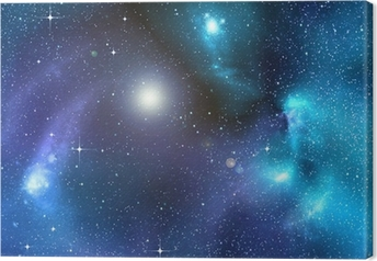 Tableau sur toile Le fond étoilé de l'espace profond