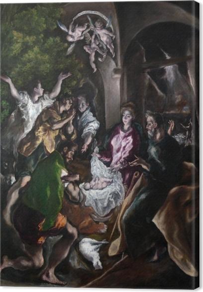 Tableau sur toile Le Greco - L'Adoration des bergers - Reproductions