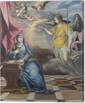 Tableau sur toile Le Greco - L'Annonciation
