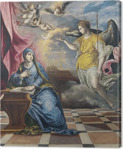 Tableau sur toile Le Greco - L'Annonciation - Reproductions