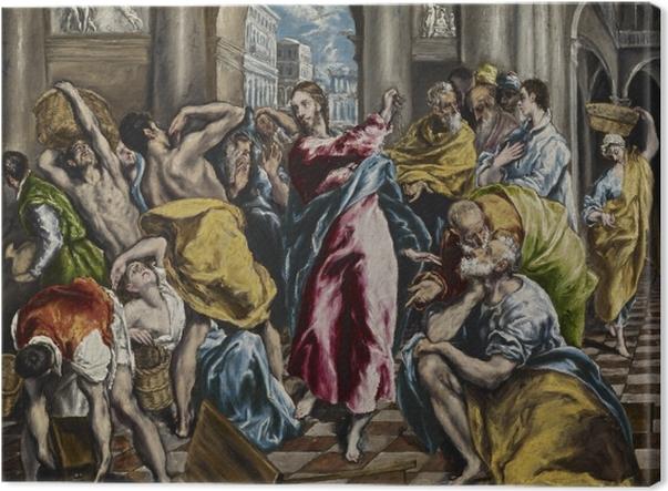 Tableau sur toile Le Greco - L'Expulsion des marchands du temple - Reproductions