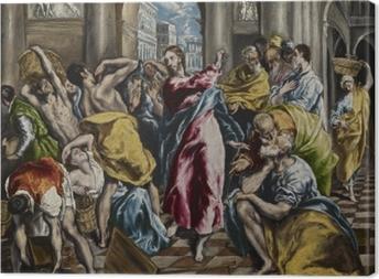 Tableau sur toile Le Greco - L'Expulsion des marchands du temple