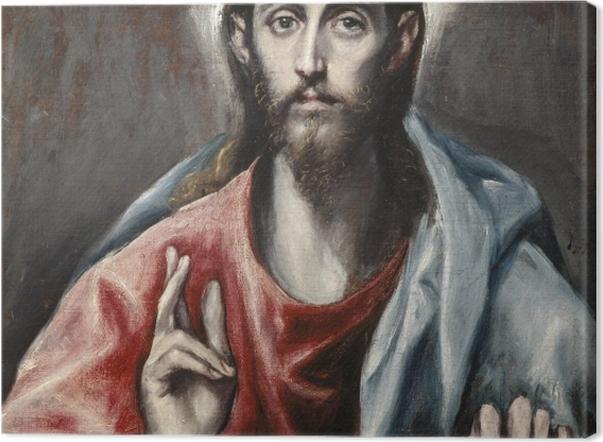 Tableau sur toile Le Greco - Le Christ bénissant - Reproductions
