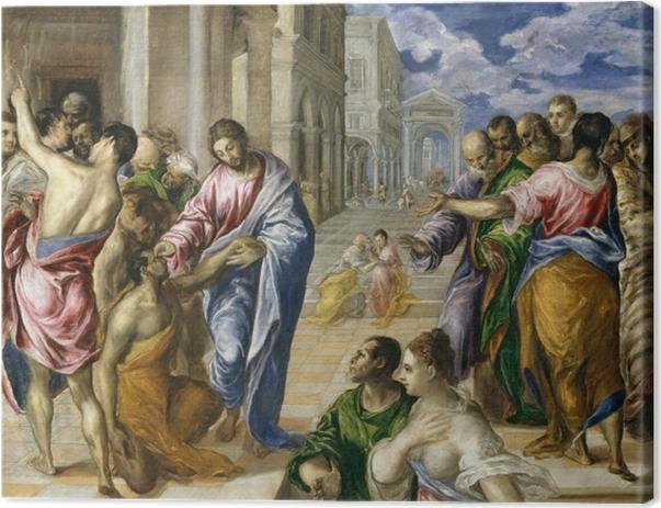 Tableau sur toile Le Greco - Le Christ guérissant un aveugle - Reproductions