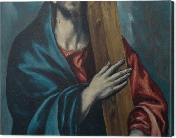 Tableau sur toile Le Greco - Le Christ portant la Croix - Reproductions