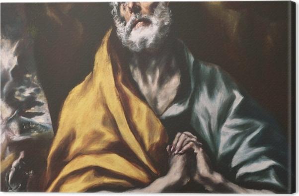 Tableau sur toile Le Greco - Le Repenti Peter - Reproductions