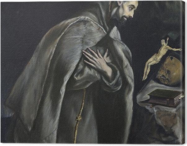 Tableau sur toile Le Greco - Saint François d'Assise - Reproductions
