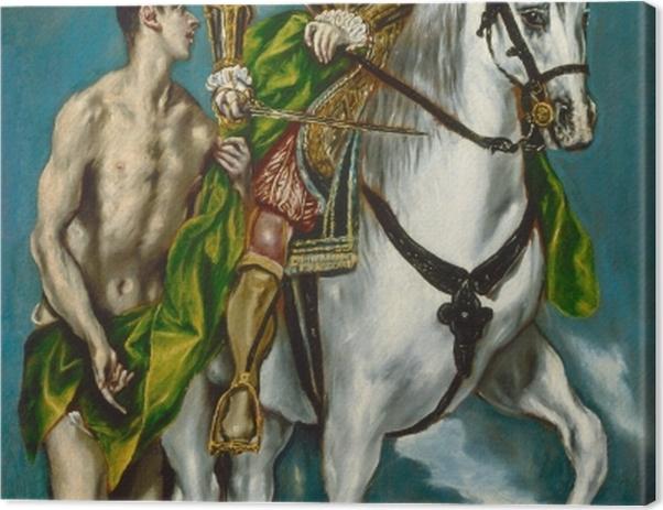 Tableau sur toile Le Greco - Saint Martin et le Mendiant - Reproductions