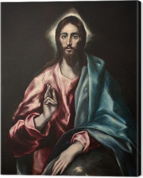 Tableau sur toile Le Greco - Salvator Mundi (Le Sauveur) - Reproductions