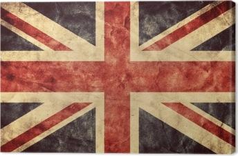 Tableau sur toile Le grunge flag Royaume-Uni. Collection de drapeaux Vintage