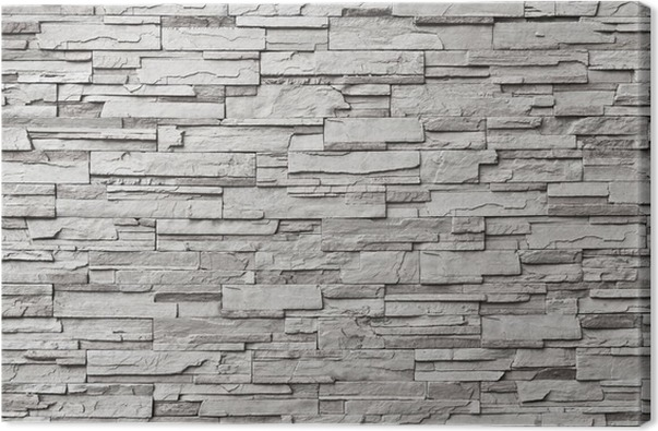 tableau sur toile le mur de pierre grise moderne pixers nous vivons pour changer. Black Bedroom Furniture Sets. Home Design Ideas
