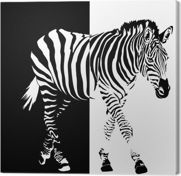 tableau sur toile le noir et blanc pixers nous vivons pour changer. Black Bedroom Furniture Sets. Home Design Ideas
