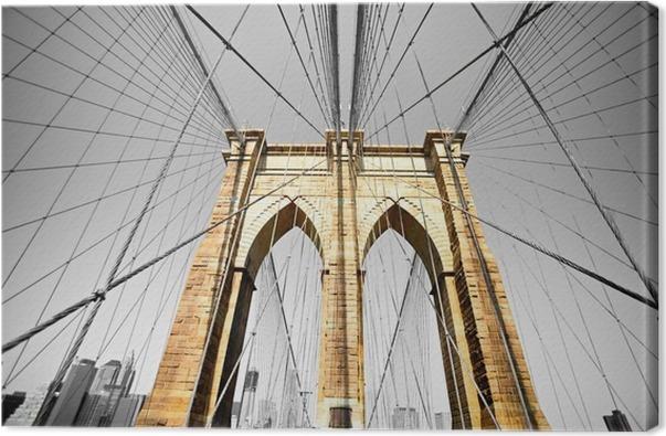 Tableau sur toile le pont de brooklyn new york etats - Toile pont de brooklyn ...