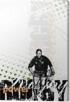 Tableau sur toile Le rugby fond 2