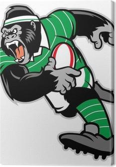 Tableau sur toile Le rugby gorille mascotte