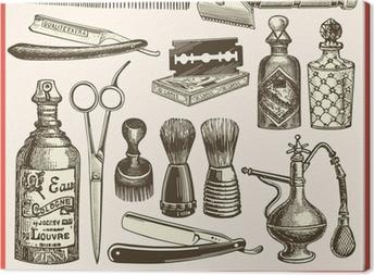 Tableau sur toile Le salon de coiffure