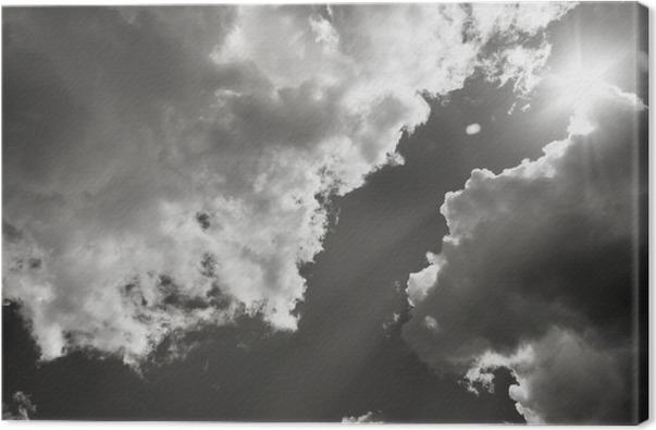 tableau sur toile le soleil perce travers les nuages. Black Bedroom Furniture Sets. Home Design Ideas