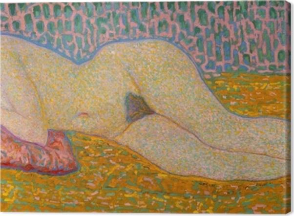 Tableau sur toile Leo Gestel - Nu couché - Reproductions