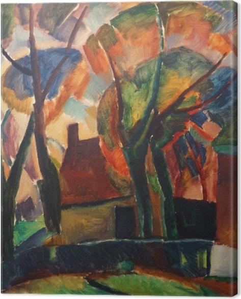 Tableau sur toile Leo Gestel - Une ferme à Beemster - Reproductions