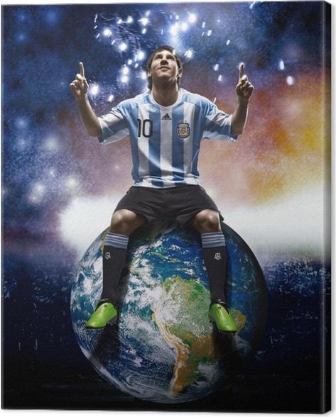 Tableau sur toile Leo Messi -