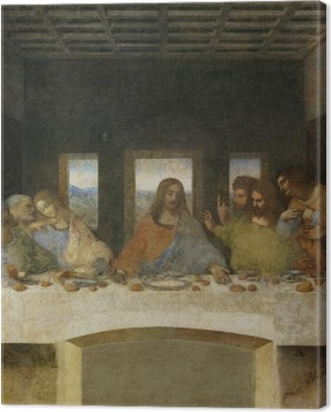 Tableau sur toile Léonard de Vinci - La Cène - Reproductions