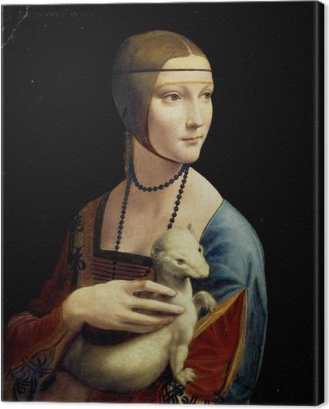 Tableau sur toile Léonard de Vinci - La Dame à l'hermine - Reproductions