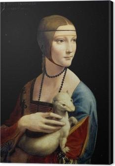 Tableau sur toile Léonard de Vinci - La Dame à l'hermine