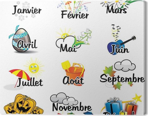 Tableau sur toile les 12 mois de l annee pixers nous for Dans 6 mois en anglais