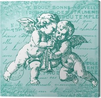 Tableau sur toile Les anges bleus