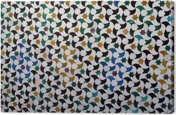 Tableau sur toile Les carreaux colorés, style arabe, à l'Alhambra, Grenade